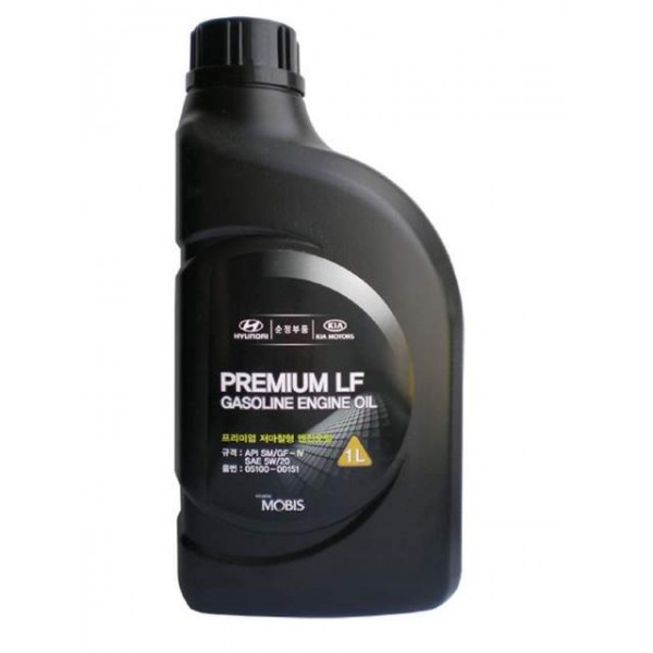 MOBIS PREMIUM GASOLINE ENGINE OIL 5W-20 SL/GF-3(1L...